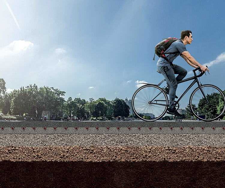 projet de routes à energie positive Céré la Ronde