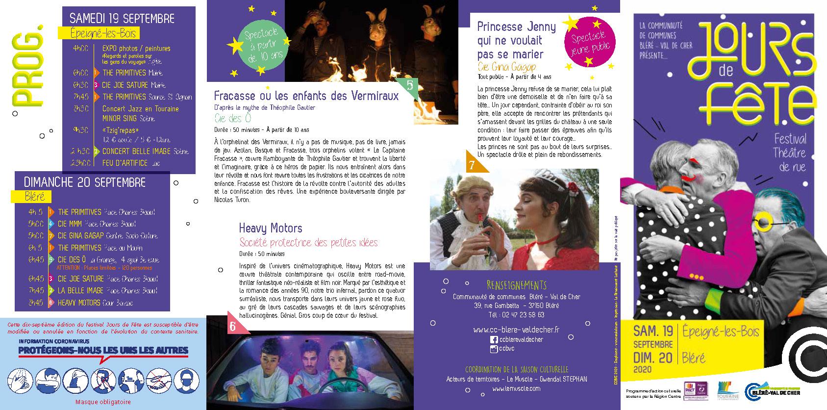 programme festival Jour de fête 2020