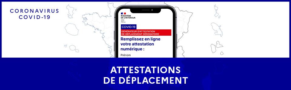 ATTESTATION DEROGATOIRE DE DEPLACEMENT